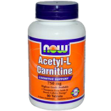 Л-карнитин NOW Acetyl L-Carnitine 750 mg 90  таб